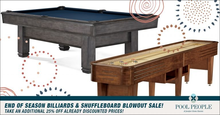 End Of Season Billiards & Shuffleboard Blowout Sale