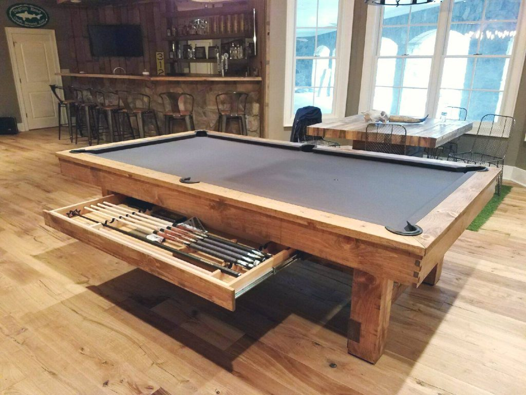 There is no regulation pool table